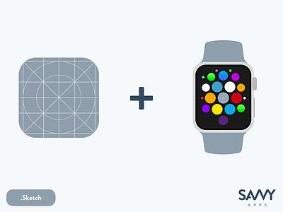 The Ultimate Sketch iOS App Icon Template  freebie apple watch icon ios app icon sketch app design template ios 9 ipad pro ipad ios