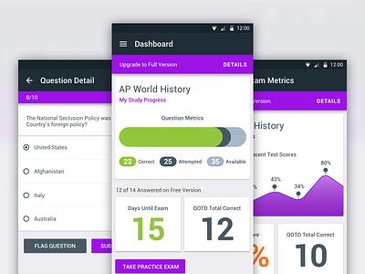 PocketPrep - Android education statistics experience mobile norton joe exams savvy interface material app android
