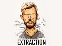 Caricature of Chris Hemsworth from the movie Extraction wacom cintiq illustration chris hemsworth hollywood extraction elodrawz elo