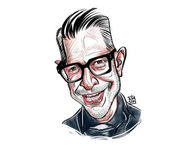 Caricature of Jeff Goldblum jurassicpark hollywood jeff goldblum procreate ipadprocreate ipadproart illustration ipadpro