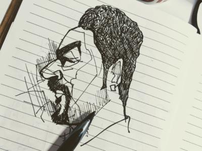 Self portrait sketch elocaricatures elo selfportrait