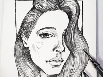 Pencil Sketch of Naomi Scot portrait dailysketch pencilsketch aladdin2019 naomi scot elodrawsthings elo illustration elocaricatures