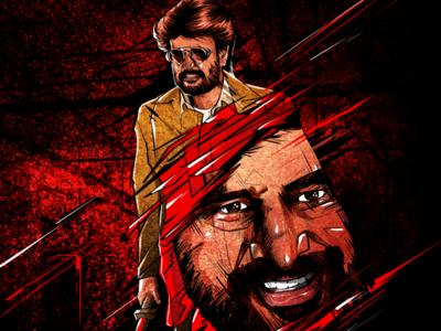 Darbar fan made poster illustration illustration movie poster poster design rajini rajinikanth darbar