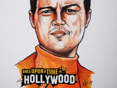 Once upon a time in Hollywood marker sketch of Leonardo DiCaprio elodrawz elocaricatures elo copic copic markers sketch leonardo di caprio dicaprio
