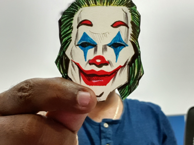 Joker is here!!! elocaricatures elo drawz joker face joker illustration joker