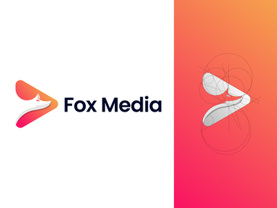 Modern Logo Design for Fox Media | By NH Tushar | Fox logo website mobile digitalart foxy fox illustration orange color logo colorful logo media logo fox logo fox typography ux letter logo illustration modern logo design logotype logo designer logo branding logo mark