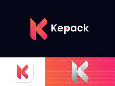 K logo | By NH Tushar | K letter logo gradient color gradient logo gradient k letter k uiux ui letter logo vector illustration mobile logo modern logo design logo designer graphicsdesign branding logo mark
