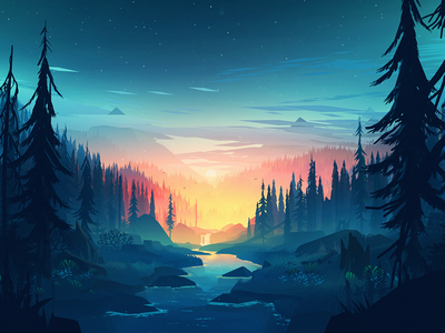 Small Memory lake forest mountains 3d environment unity