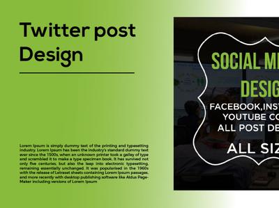 Twitter Post Design