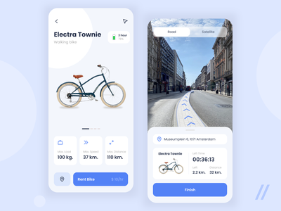 Bike Rental App Design ride bike ride rental app rental rent bike bike app bike rental web custom illustraion mobile mvp ux ui startup react native purrweb design app
