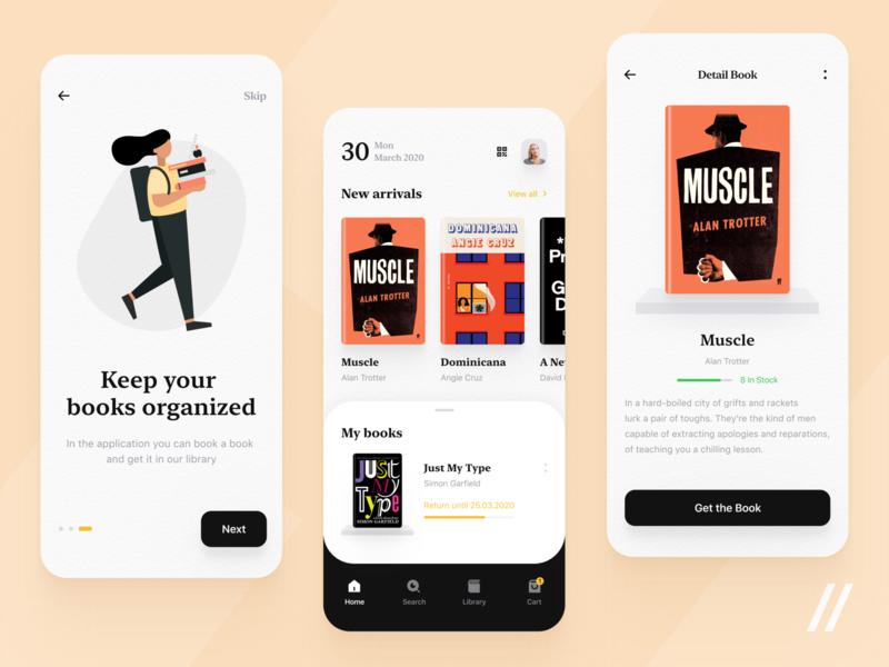 e-Library design concept purrweb react native e-library booking online books library design mobile app ux ui