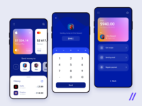 Banking App Design Concept transfer money payment figma apple pay finance banking react native purrweb app mobile design ux ui