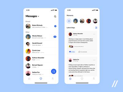 Social Media App stories friends group chat chat media social app socialmedia social react native purrweb design app mobile ux ui