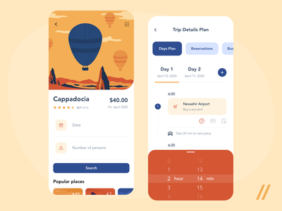 Travel Planning App places route illustraion planning travel ux ui react native purrweb design app mobile