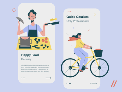 Food Delivery App Design Concept startup mvp delivery food recipe cooking illustration motion animation online react native mobile ux ui purrweb design app