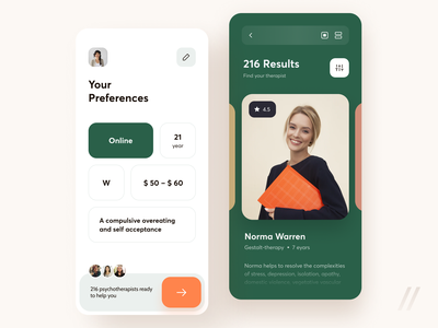 Mental Health Online Therapy App help support physiotherapy provider patients doctors health healthcare mental health startup mvp react native purrweb app mobile design ux ui