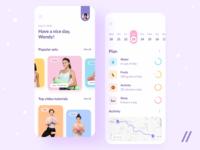 Fitness App sport meal planner calendar activity tutorials daily planner plan fitness startup online mvp react native mobile ux ui purrweb design app