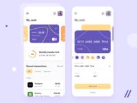 Banking App Design transaction credit card payment wallet bank banking startup online mvp react native mobile ux ui purrweb design app