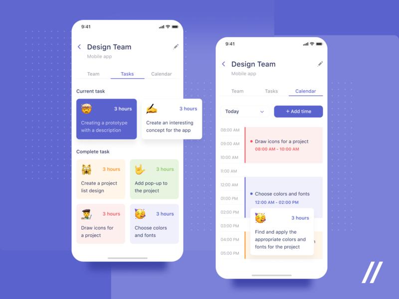 Task Tracker Application tracker manager planner task startup online mvp react native mobile ux ui purrweb design app