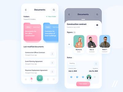 Digital Signature App esignature documents signature startup online mvp react native mobile ux ui purrweb design app