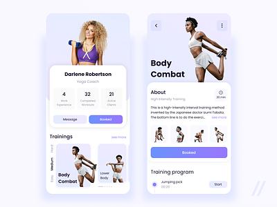 Fitness Trainer Profile program health coach trainer sport fitness startup online mvp react native mobile ux ui purrweb design app