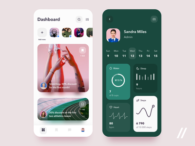 Sport App graphic stats dashboard health customer trainer fitness sport startup mvp online react native mobile ux ui purrweb design app