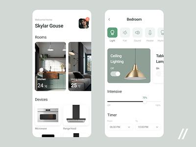 Smart Home Animation dasboard control panel home smart startup online mvp react native mobile ux ui purrweb design app