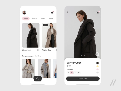 eCommerce Store App Design fashion commercial online store store online shop shop ecommerce app e-comerce commerce ecommerce mobile ux ui purrweb design app