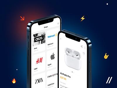 Wishlist App UI/UX Design shopping app shopping shop ios12 gifts gift social media socialmedia social wish wishes wish card wishlist ios mobile ux ui purrweb design app