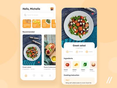 Recipe App recipe recipe card recipe book recipe app recipes delivery app delivery food startup mvp online react native mobile ux ui purrweb design app
