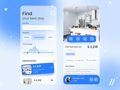 Real Estate App Design airbnb house room apartments apartment search rent real estate realestate startup mvp online react native mobile ux ui purrweb design app