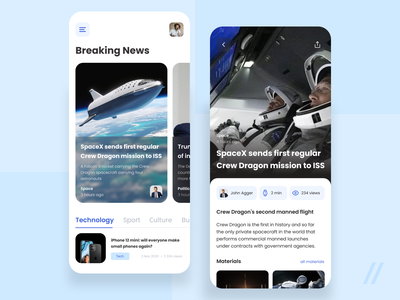 Newsfeed App Design blog article newspaper news app newsfeed news startup mvp online react native mobile ux ui purrweb design app
