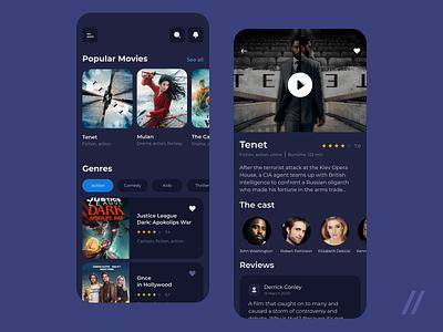 Online Movie Streaming Platform movie streaming service app streaming stream movie platform service startup mvp online react native mobile ux ui purrweb design app