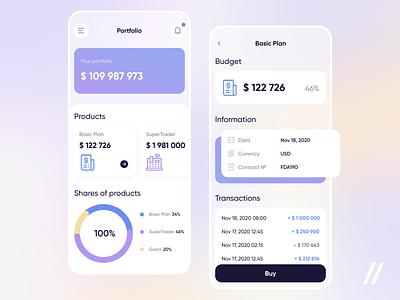 Investment Management App finance app investment fintech investing startup mvp online react native mobile ui ux purrweb design app