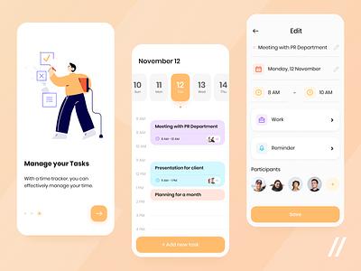 Online Planner App task manager todo app task management planning planner productivity app productivity startup mvp online react native mobile ux ui purrweb design app