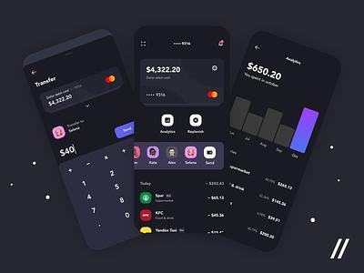 Banking App (Dark / Light Mode) light mode dark mode dark theme fintech banking banking app bankingapp animation startup mvp online react native mobile ui ux purrweb design app