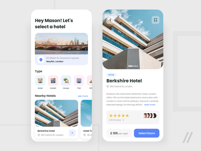 Hotel Booking App accommodation reservation house hostel travel room hotel booking booking app hotel booking startup mvp online react native mobile ux ui purrweb design app