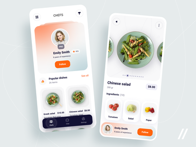 Food Delivery App dish delivery service food illustration order food and drink cooking chief delivery app delivery food startup mvp online react native mobile ux ui purrweb design app
