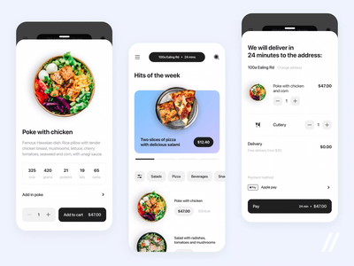 Food Delivery App foodtech food delivery restaurant menu ordering food and drink delivery food startup mvp online react native mobile ux ui purrweb design app
