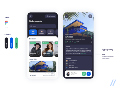 Real Estate App facility marketplace realtors apartment house realestate real estate search property proptech startup mvp online react native mobile ux ui purrweb design app