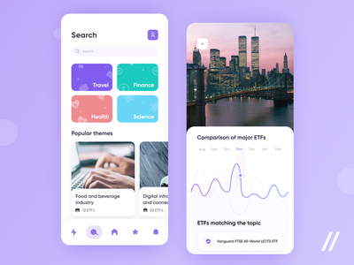 Trading App feed news investment app trading app investment trade finance fintech trading etf startup mvp react native online mobile ux ui purrweb design app