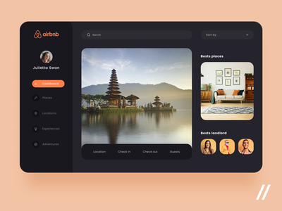 Airbnb Web App Redesign flat apartment rent accommodation booking web design redesign airbnb dashboard website web startup mvp react native online ux ui purrweb design app