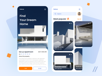 Real Estate App blue tenants house rent landlord apartment accommodation booking tenant reall estate startup mvp react native online mobile ux ui purrweb design app