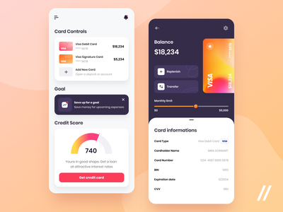 Banking App wallet savings goal balance credit banking app fintech app banking finance fintech startup mvp react native online mobile ux ui purrweb design app