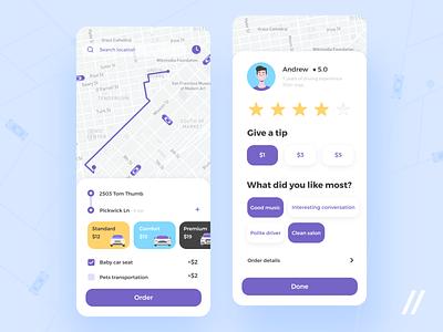 Taxi App uber design map logistics transport drive taxi app taxi lyft bolt uber startup react native mvp online mobile ux ui purrweb design app