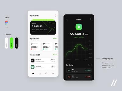 Banking App trading app crypto wallet wallet graphs investment app investing cryptocurrency finance app fintech app finance fintech startup mvp online mobile ux ui purrweb design app