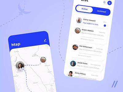 Messenger App chatting chat app chat texting sharing viber telegram messenger app whatsapp messenger react native startup mvp online mobile ux ui purrweb design app