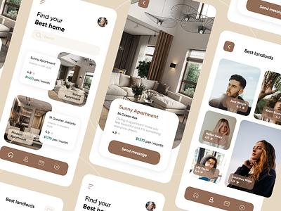 Real Estate App startup marketplace booking accommodation mvp flat house apartment rent rental app real estate app real estate online mobile ux ui purrweb design app