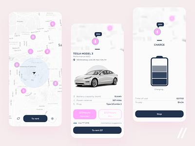 EV Charging App electric car search payment map vehicle ev charge charging app charge electric vehicle startup mvp ev online mobile ux ui purrweb design app