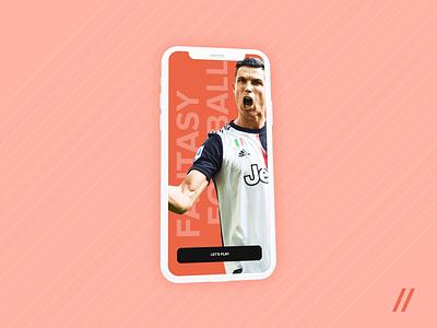Fantasy Football App sport cybersport championship league startup mvp fantasysports fantasyfootball football sports fantasy mobile design animation mobile online ux ui purrweb design app